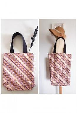 TC Tote Bag Batik Parang Pink