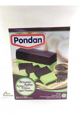 Pondan Brownis Black Sticky Rice with Pandan Cake Mix